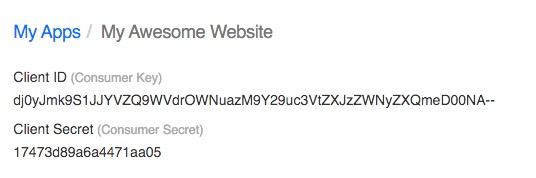 yahoo-consumer-key-secret-key